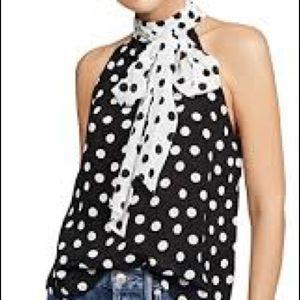 Alice + Olivia polka dot silk blouse Size S-M